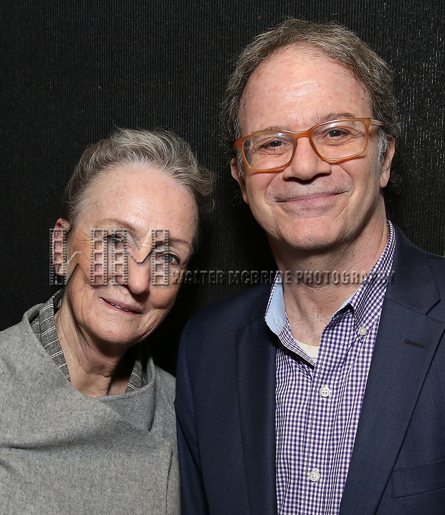 Kathleen Chalfant and Douglas Aibel attends the Vineyard Theatre's Annual Emerging Artists Luncheon at The National Arts Club on June 6, 2017 in New York City.