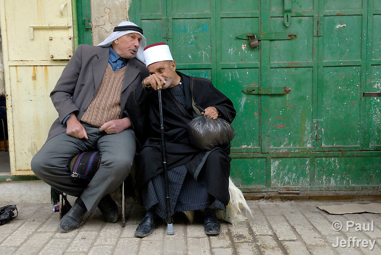 Old men in Hebron.