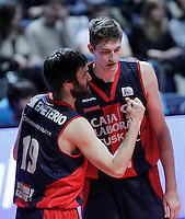 Caja Laboral Baskonia's Fernando San Emeterio (l) and Tibor Pleiss during Liga Endesa ACB match.January 6,2012. (ALTERPHOTOS/Acero) /NortePhoto