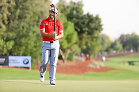 Jon Rahm (ESP) on the 18th during the final round of the DP World Tour Championship, Jumeirah Golf Estates, Dubai, United Arab Emirates. 19/11/2017<br /> Picture: Golffile | Fran Caffrey<br /> <br /> <br /> All photo usage must carry mandatory copyright credit (© Golffile | Fran Caffrey)