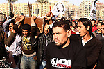 Egyptian mourners carry the coffin of Egyptian activist Mohamed al-Shafie during his funeral in Cairo, Egypt, 05 March 2013. According to local media sources, clashes broke out between mourners and police forces during the funeral. The opposition activist went missing on 29 January during protests marking the second anniversary of the 2011 uprising. His body was found late February with a birdshot wound in head. Photo by Tareq al-Gabas