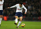 9th December 2017, Wembley Stadium, London England; EPL Premier League football, Tottenham Hotspur versus Stoke City; Son Heung-Min of Tottenham Hotspur scores his sides 2nd goal in the 52nd minute to make it 2-0