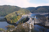 GERMANY Urft lake and dam in Nationalpark Eifel / DEUTSCHLAND Eifel, Urftsee und Urftseestaumauer im Nationalpark Eifel