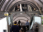 People in Hong Kong at the longest escalator of the world.