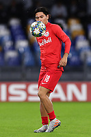 Takumi Minamino of FC Salzburg  during the warm up<br /> Napoli 05-11-2019 Stadio San Paolo <br /> Football Champions League 2019/2020 Group E<br /> SSC Napoli - FC Salzburg<br /> Photo Cesare Purini / Insidefoto