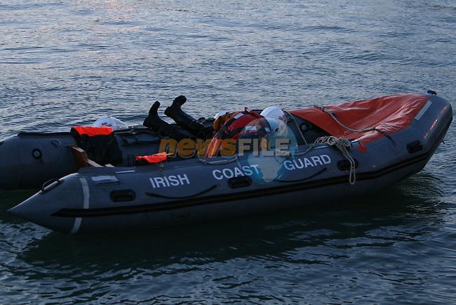 Drogheda Coast Guard D-class capsize drill..Photo: Newsfile/Fran Caffrey.