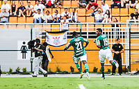 SAO PAULO, SP, 17 FEVEREIRO 2013 - CAMPEONATO PAULISTA - CORINTHIANS X PALMEIRAS - Vilson jogador do Palmeiras comemora seu gol contra o Corinthians em jogo pela oitava rodada do Campeonato Paulista no Estadio Paulo Machado de Carvalho, o Pacaembu na regiao oeste da capital paulista, neste domingo, 17. (FOTO: WILLIAM VOLCOV / BRAZIL PHOTO PRESS).