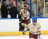 Quinn Smith (BC - 27) - The Boston College Eagles defeated the University of Denver Pioneers 6-2 in their NCAA Northeast Regional semi-final on Saturday, March 29, 2014, at the DCU Center in Worcester, Massachusetts.