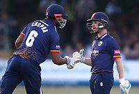Varun Chopra and Adam Wheater of Essex enjoy a useful partnership during Essex Eagles vs Middlesex, Vitality Blast T20 Cricket at The Cloudfm County Ground on 6th July 2018