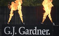 GJ Gardner branding.<br /> New Zealand Blackcaps v England. 5th ODI International one day cricket, Hagley Oval, Christchurch. New Zealand. Saturday 10 March 2018. &copy; Copyright Photo: Andrew Cornaga / www.Photosport.nz