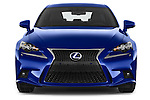 Car photography straight front view of a 2015 Lexus IS F SPORT LINE 4 Door Sedan Front View