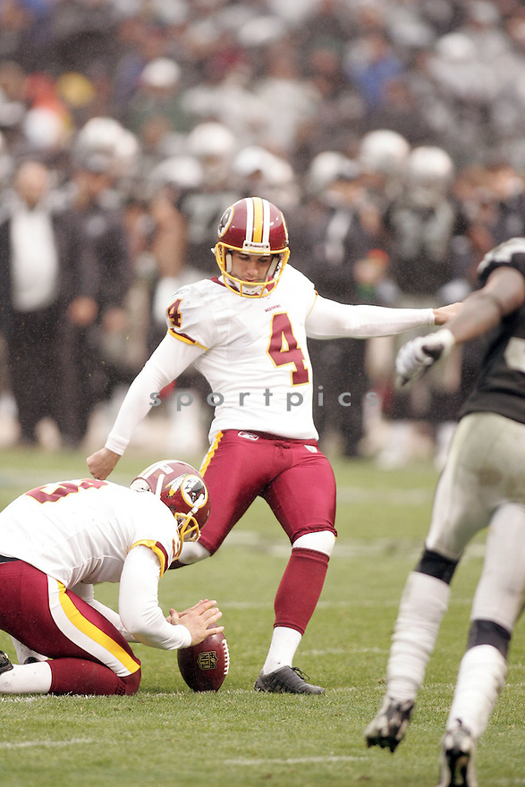 GRAHAM GANO, of the Washington Redskins, in action during the Redskins game against the Oakland Raiders on December 13, 2009 in Oakland, CA. Redskins won 34-13.
