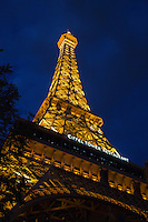 The Eiffel Tower Restaurant at the Paris hotel and casino located on the Las Vegas Strip in Paradise, Nevada.