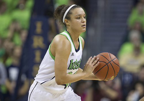 December 05, 2012:  Notre Dame guard Kayla McBride (21) during NCAA Women's Basketball game action between the Notre Dame Fighting Irish and the Baylor Bears at Purcell Pavilion at the Joyce Center in South Bend, Indiana.  Baylor defeated Notre Dame 73-61.