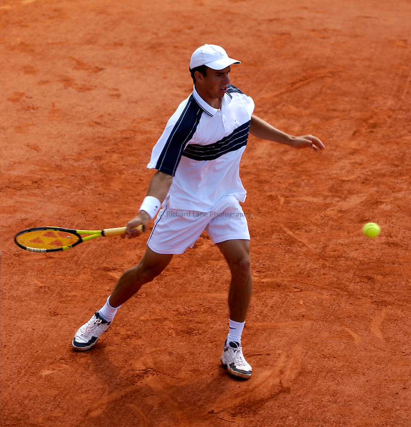 Photo. Jed Wee.French Open Tennis Championships, Rolland Garros, Paris, France. 26/05/2003..Dominik Hrbaty.