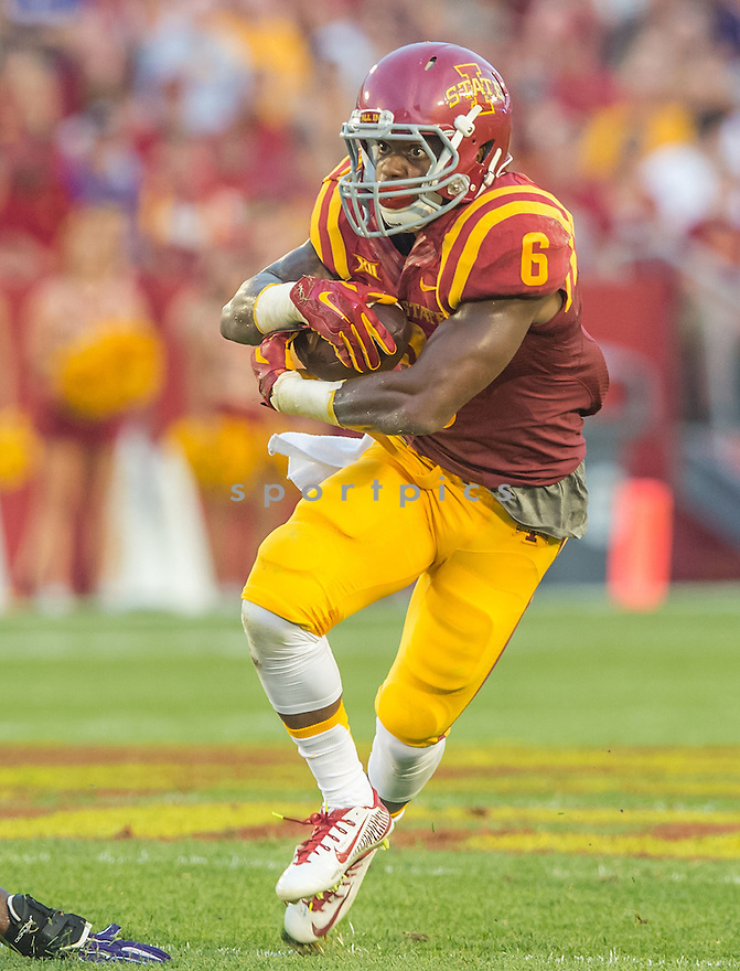 Iowa State Cyclones Tyler Brown (6) during a game against the Northern Iowa Panthers on September 5, 2015 at Jack Trice Stadium in Ames, Iowa. Iowa State beat Northern Iowa 31-7.