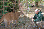 Big Cat Rescue Staff & Cougar