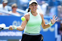 Washington, DC - August 4, 2019: Jessica Pegula (USA) returns the ball against Camila Giorgi (ITA)  NOT PICTURED during the WTA Citi Open Woman's Finals at Rock Creek Tennis Center, in Washington D.C. (Photo by Philip Peters/Media Images International)