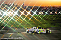 Aug 31, 2008; Fontana, CA, USA; (Editors note-special effects filter used in creation of this image) NASCAR Sprint Cup Series driver Jimmie Johnson during the Pepsi 500 at Auto Club Speedway. Mandatory Credit: Mark J. Rebilas-US PRESSWIRE