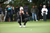 Robert Karlsson (SWE) in putting action during the Final Round of the British Masters 2015 supported by SkySports played on the Marquess Course at Woburn Golf Club, Little Brickhill, Milton Keynes, England.  11/10/2015. Picture: Golffile | David Lloyd<br /> <br /> All photos usage must carry mandatory copyright credit (© Golffile | David Lloyd)