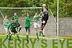 Castleisland goalkeeper Kevin Moran makes a save in the dying moments of their clash with Listowel Celtic in the Denny Premier 'A' League Final Replay at  Mounthawk Park, Tralee on Sunday.