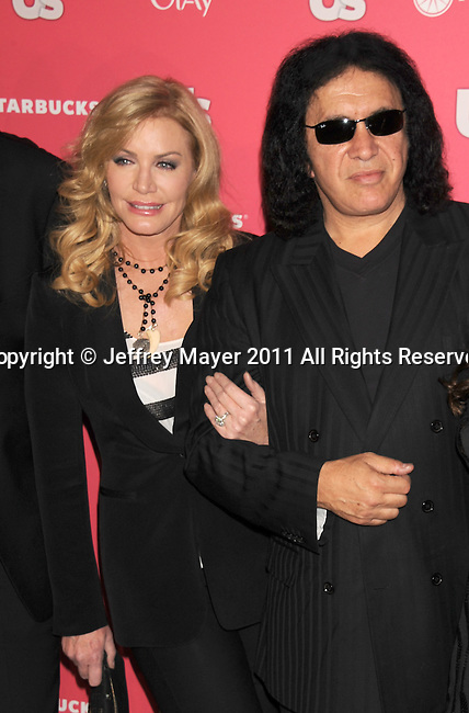 HOLLYWOOD, CA - APRIL 26: Shannon Tweed and Gene Simmons  attend the Us Weekly Hot Hollywood Party at Eden on April 26, 2011 in Hollywood, California.