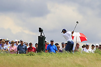 Sergio Garcia (ESP) tees off the 10th tee during Saturday's Round 3 of the 117th U.S. Open Championship 2017 held at Erin Hills, Erin, Wisconsin, USA. 17th June 2017.<br /> Picture: Eoin Clarke | Golffile<br /> <br /> <br /> All photos usage must carry mandatory copyright credit (&copy; Golffile | Eoin Clarke)