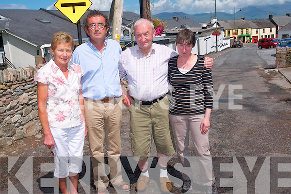 Residents in Glenbeigh are calling on Kerry County Council to undertake works on the road known locally as 'The High Road' due to the deplorable condition of the road. <br /> L-R John Connors, Brian Sugrue, Tony McSweeney and Maureen Brennan.