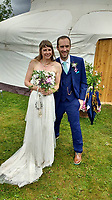 """Pictured: Andrew and Lucy Foster on their wedding day.<br /> Re: A British climber was killed and his wife seriously injured living their """"big dream"""" on one of the toughest rock faces in the world.<br /> Andrew Foster, 32, and his wife Lucy, 28, were buried under tons of falling rock as they prepared for their climb.<br /> Experienced climber Andrew was killed but Lucy was rescued and airlifted to hospital where she was in a """"critical"""" condition.<br /> The couple were married a year ago and the three-week trip to the Yosemite National Park in California was part of their first wedding anniversary celebrations.<br /> They had ben training for the expedition for six months and flew off to the States on September 11 along with other members of their climbing club.<br /> Andrew and Lucy, from Cardiff, were scouting out a descent of the iconic rockface El Capitan when a """"sheet"""" of granite fell on them.<br /> Rangers on the national park beauty spot said a piece of granite 40 metres by 20 metres fell from a height of 200 metres while the couple were below.<br /> Patagonia, a company owned by Andrew Foster has confirmed the incident."""
