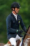 Netherland's jockey Harrie Smolders with the horse Exquis Walnut de Muze during 102 International Show Jumping Horse Riding, Gran Prix of Madrid-Volvo Throphy.May, 19, 2012. (ALTERPHOTOS/Acero)