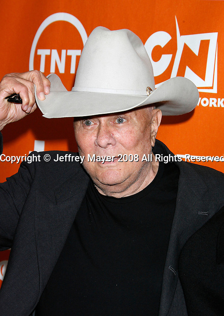 Actor Tony Curtis arrives at the Turner Broadcasting TCA Party at The Oasis Courtyard at The Beverly Hilton Hotel on July 11, 2008 in Beverly Hills, California.