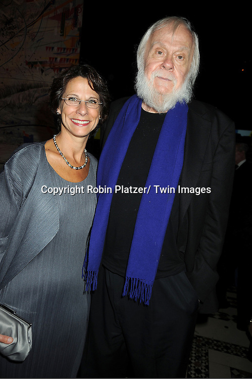 John Baldessari and guest attends the Americans for the Arts 2012 National Arts Awards on October 15, 2012 at Cipriani 42nd Street  in New York City.