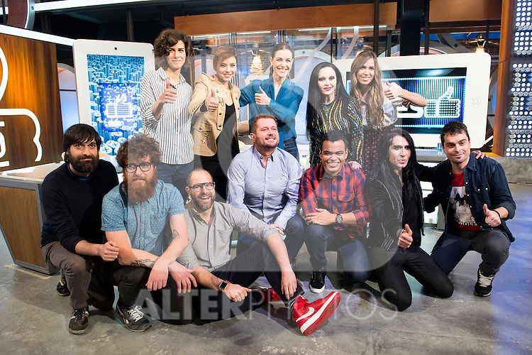 Full team during the presentation of the new TV program to Movistar+,  &quot; Likes &quot; at 7 y accion studios in Madrid. January 27, 2016.<br /> (ALTERPHOTOS/BorjaB.Hojas)