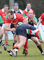 Gary Longwell in action during the charity match between the Ulster 1999 XV and a Wooden Spoon Select XV at Shaw's Bridge Belfast.  Mandatory Credit - Photo : Oliver McVeigh