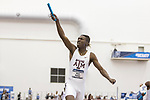 COLLEGE STATION, TX - MARCH 11: Mylik Kerley of Texas A&M celebrates after a win the men's 4x400 meter relay during the Division I Men's and Women's Indoor Track & Field Championship held at the Gilliam Indoor Track Stadium on the Texas A&M University campus on March 11, 2017 in College Station, Texas. (Photo by Michael Starghill/NCAA Photos/NCAA Photos via Getty Images)