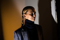 NEW YORK - FEB 11: A DETACHER at PIER 59. Scenes from New York Fashion Week, FALL/WINTER 2016, on February 11, 2016, in New York City. (Photo by Landon Nordeman)