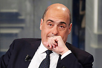 Nicola Zingaretti <br /> Rome January 21st 2020. The secretary of Democratic party appears as a guest on the tv show Porta a Porta<br /> Foto Samantha Zucchi Insidefoto