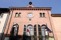 La facciata del Palazzo Comunale di Alba.<br /> The facade of the Palazzo Comunale of Alba, Piedmont.<br /> UPDATE IMAGES PRESS/Riccardo De Luca