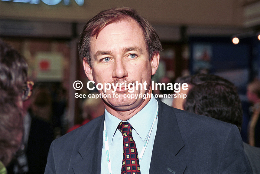 Geoff Hoon, MP, Minister, Labour Party, Britain, UK, 199810087.<br /> <br /> Copyright Image from Victor Patterson,<br /> 54 Dorchester Park, <br /> Belfast, UK, BT9 6RJ<br /> <br /> t1: +44 28 9066 1296 (from Rep of Ireland 048 9066 1296)<br /> t2: +44 28 9002 2446 (from Rep of Ireland 048 9002 2446)<br /> <br /> m: +44 7802 353836<br /> <br /> e: victorpatterson@me.com<br /> www.victorpatterson.com<br /> <br /> Please see my Terms and Conditions of Use at www.victorpatterson.com. It is IMPORTANT that you familiarise yourself with them.<br /> <br /> Images used on the Internet must be visibly watermarked i.e. &copy; Victor Patterson<br /> within the body of the image and copyright metadata must not be deleted. Images <br /> used on the Internet have a size restriction of 4kbs and will be chargeable at current<br />  NUJ rates unless agreed otherwise.<br /> <br /> This image is only available for the use of the download recipient i.e. television station, newspaper, magazine, book publisher, etc, and must not be passed on to any third <br /> party. It is also downloaded on condition that each and every usage is notified within 7 days to victorpatterson@me.com<br /> <br /> The right of Victor Patterson to be identified as the author is asserted in accordance with The Copyright Designs And Patents Act (1988). All moral rights are asserted.