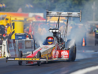 Aug 21, 2016; Brainerd, MN, USA; NHRA top fuel driver Doug Kalitta during the Lucas Oil Nationals at Brainerd International Raceway. Mandatory Credit: Mark J. Rebilas-USA TODAY Sports