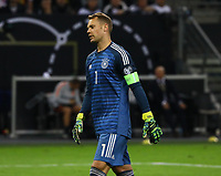 Torwart Manuel Neuer (Deutschland Germany) angefressen - 06.09.2019: Deutschland vs. Niederlande, Volksparkstadion Hamburg, EM-Qualifikation DISCLAIMER: DFB regulations prohibit any use of photographs as image sequences and/or quasi-video.
