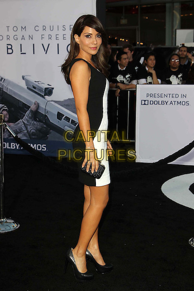 "Marisol Nichols.""Oblivion"" Los Angeles Premiere held at the Dolby Theatre, Hollywood, California, USA..April 10th, 2013.full length dress black white side clutch bag .CAP/ADM/KB.©Kevan Brooks/AdMedia/Capital Pictures."