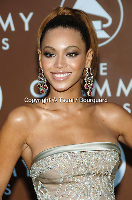 Beyonce Knowles arriving at the 48th Grammy Awards at the  Staples Center In Los Angeles, Wednesday February 8, 2006