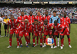 10 June 2007: Panama's starters pose for a team photo. Front row (l to r): Gabriel Gomez, Alberto Blanco, Amitcar Henriquez, Felipe Baloy, Victor Herrera. Back row (l to r): Juan Perez, Carlos Rivera, Roman Torres, Blas Perez, Jaime Penedo, Jose Luis Garces. The Panama and Cuba Men's National Teams tied 2-2 at Giants Stadium in East Rutherford, New Jersey in a first round game in the 2007 CONCACAF Gold Cup.