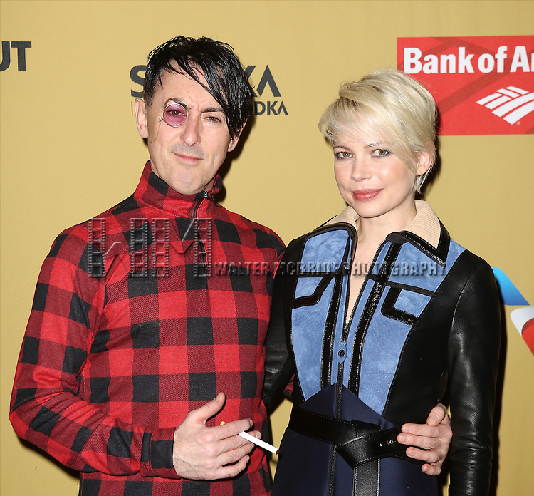 Alan Cumming and Michelle Williams attending the Broadway Opening Night After Party for 'Cabaret' at Studio 54 on April 24, 2014 in New York City.