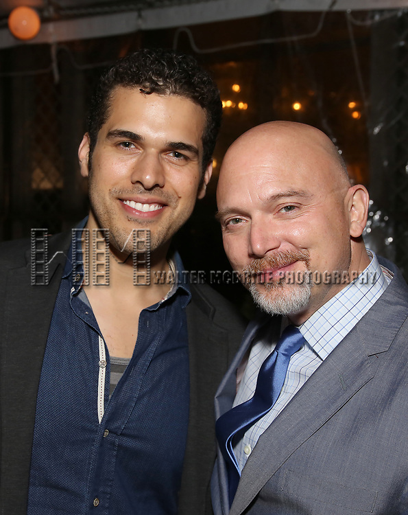 Joel Perez and Michael Cerveris attend the Broadway Opening Night After Party for  'Indecent' at Bryant Park Grill on April 18, 2017 in New York City.