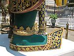 Foot of statue. Wat Phra Kaew, Bangkok, Thailand