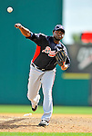4 March 2011: Atlanta Braves pitcher Jairo Asencio in action during a Spring Training game against the Washington Nationals at Space Coast Stadium in Viera, Florida. The Braves defeated the Nationals 6-4 in Grapefruit League action. Mandatory Credit: Ed Wolfstein Photo