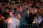 © Joel Goodman - 07973 332324 . 29/08/2016 . Manchester , UK . A candlelit vigil in memory of those who did from AIDS in Sackville Park in Manchester's Gay Village , at the close of celebrations for the city's annual Gay Pride . Photo credit : Joel Goodman