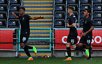 Wenderson Galeno of Porto celebrates his sides winning goal during the Premier League International Cup Semi Final match between Swansea City and Porto at The Liberty Stadium, Swansea, Wales, UK. Saturday, 25 March 2017